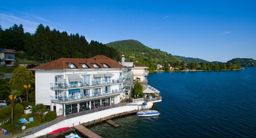 Hotel Giardinetto, Lake Orta, Italy - Hotel and lake.jpg