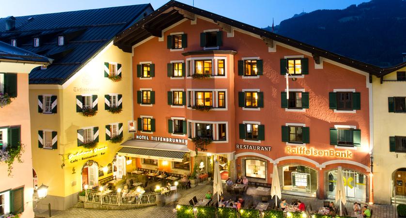 Hotel Tiefenbrunner, Kitzbühel, Austria Evening exterior