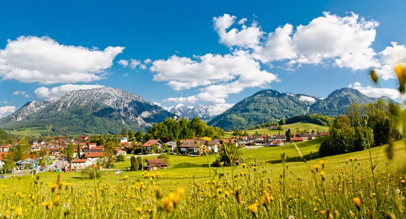 Ruhpolding, germany, panoramic village view