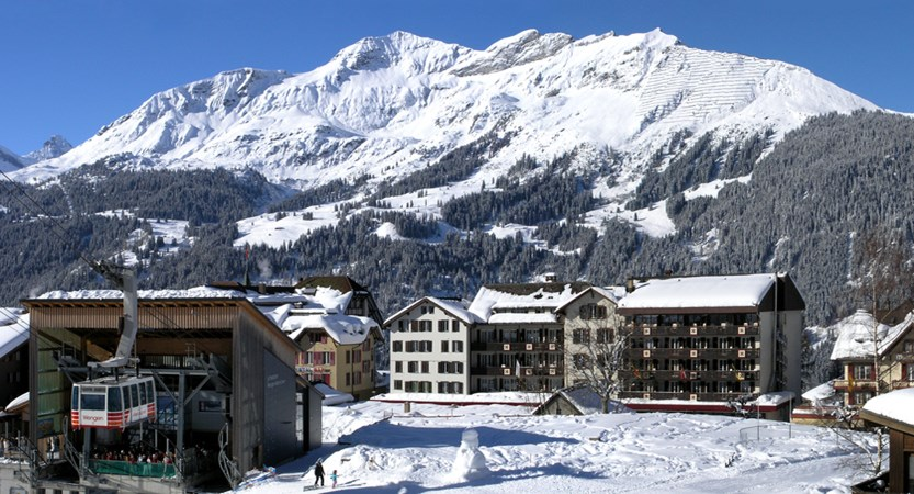 Hotel Sunstar Wengen Switzerland - Exterior and cable car