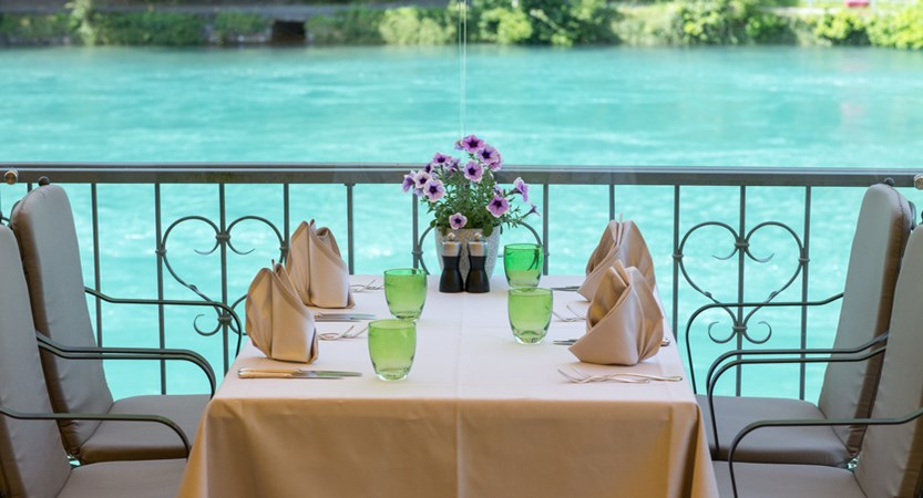 Lindner Grand Hotel Beau Rivage, Interlaken, Bernese Oberland, Switzerland Riverside dining.jpg