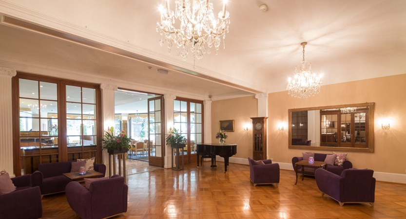 Lindner Grand Hotel Beau Rivage, Interlaken, Bernese Oberland, Switzerland LOBBY LOUNGE AREA