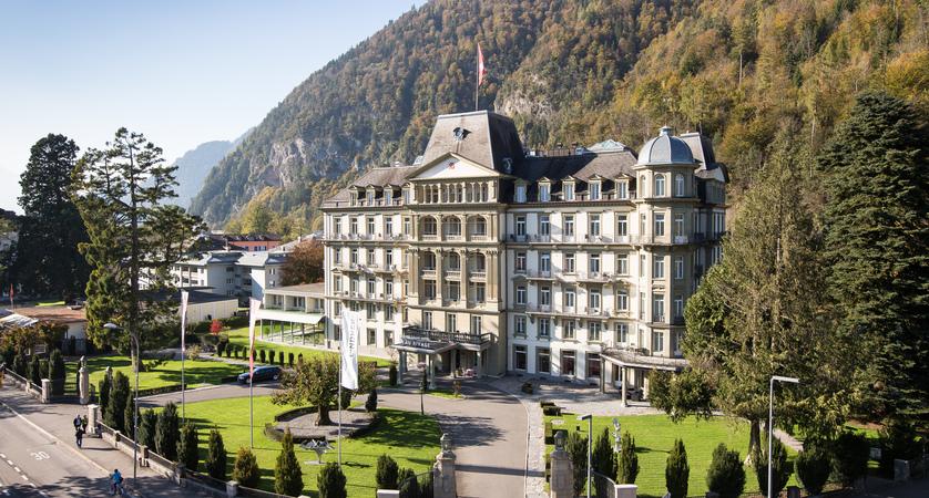 Lindner Grand Hotel Beau Rivage, Interlaken, Bernese Oberland, Switzerland EXTERIOR