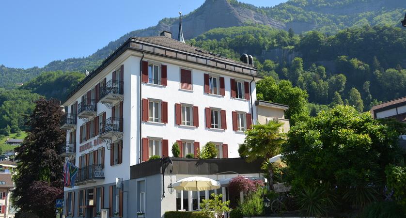 Hotel Rigi, Vitznau, Lake Lucerne, Switzerland - hotel exterior2