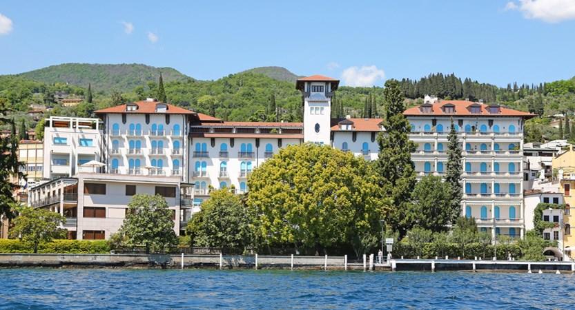Hotel Savoy Palace, Gardone Riviera, Lake Garda, Italy - Exterior from lake.JPG