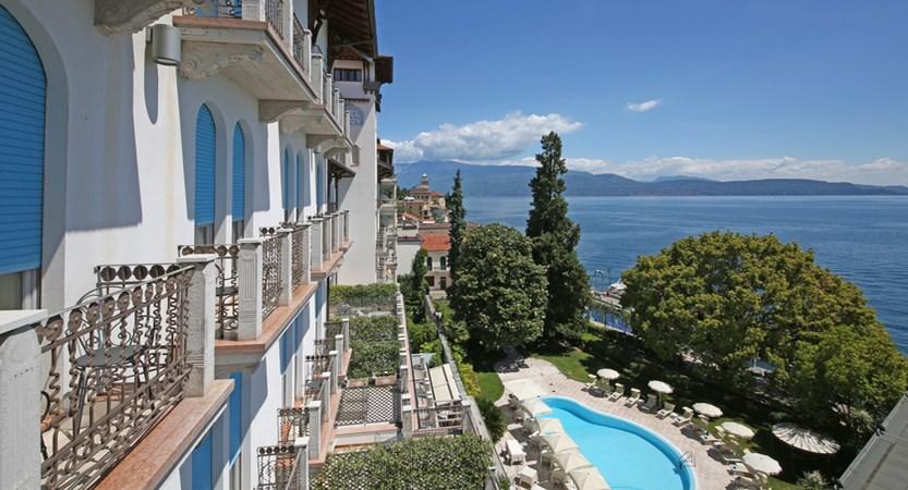 Hotel Savoy Palace, Gardone Riviera, Lake Garda, Italy - balcony view.JPG