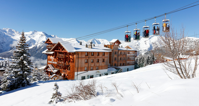 Hotel from the slopes