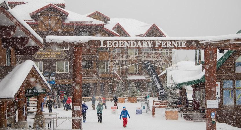 Snowing Legendary Fernie Sign