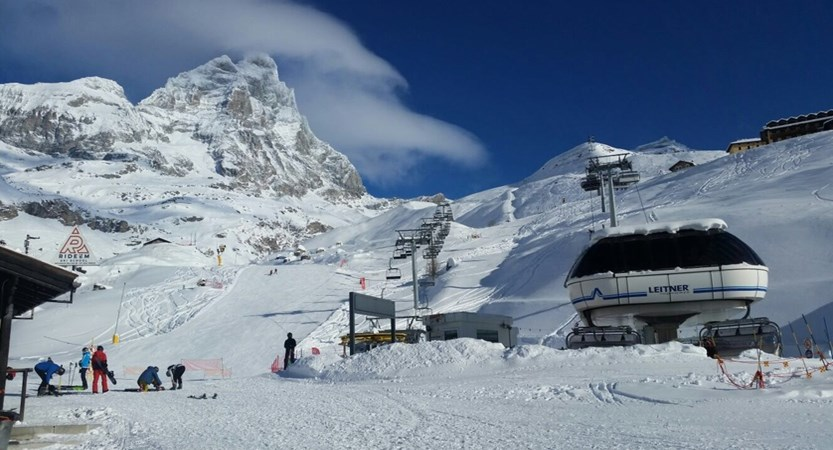 Hotel Lyskamm, Cervinia, View from front of hotel.JPG