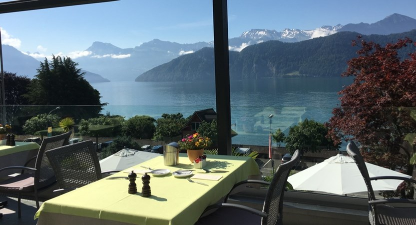Hotel Alexander Weggis Outdoor Dining