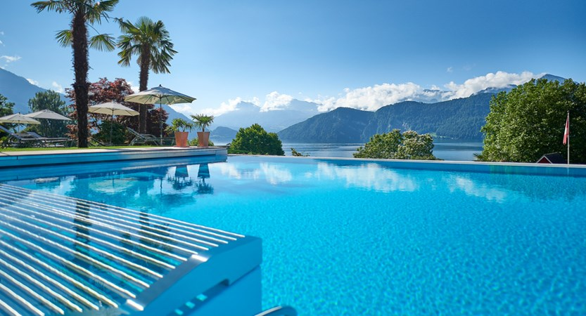 Hotel Gerbi Lake Lucerne Weggis Switzerland Swimming Pool