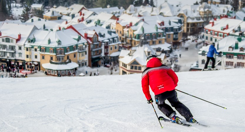 tremblant ski back to town base