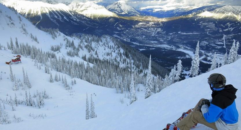 fernie canada snowboarder views