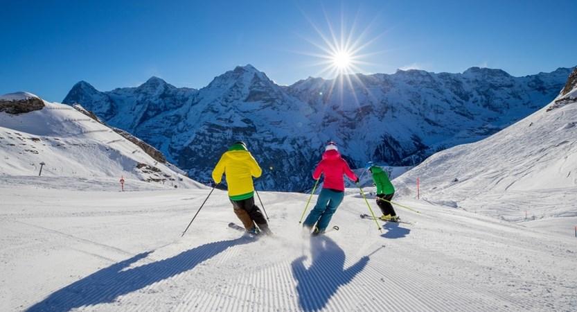 Skiiing Murren Switzerland