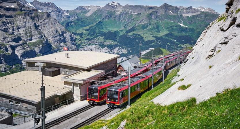 Jungfrau Station Summer Eigergletscher Switzerland