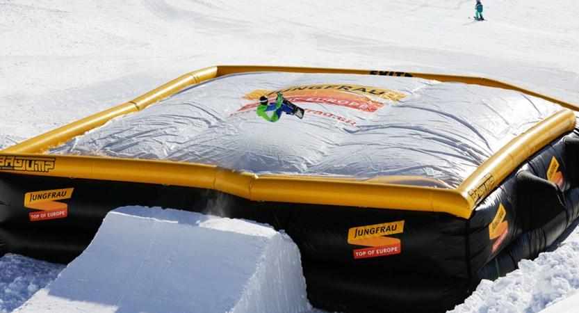 Grindelwald Winter Bag Jump Bernese Oberland Switzerland