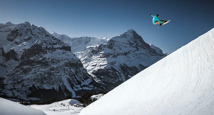 Grindelwald Winter Snowpark Bernese Oberland Switzerland