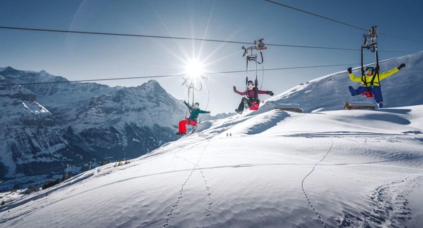 Grindelwald Winter Flyer Bernese Oberland Switzerland
