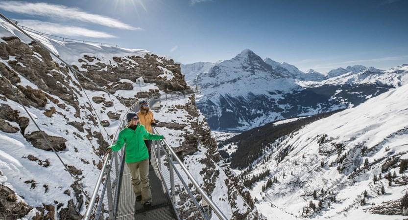 Grindelwald First Cliff Walk Eiger Bernese Oberland Switzerland