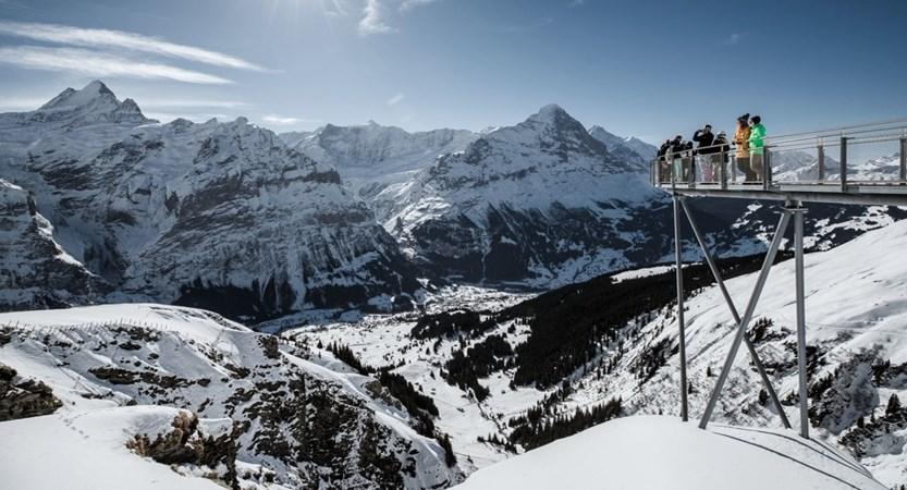 Grindelwald First Cliff Walk Bernese Oberland Switzerland