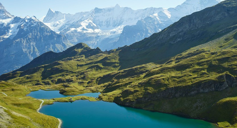 Lake Bachalpsee Grindelwald Bernese Oberland Switzerland