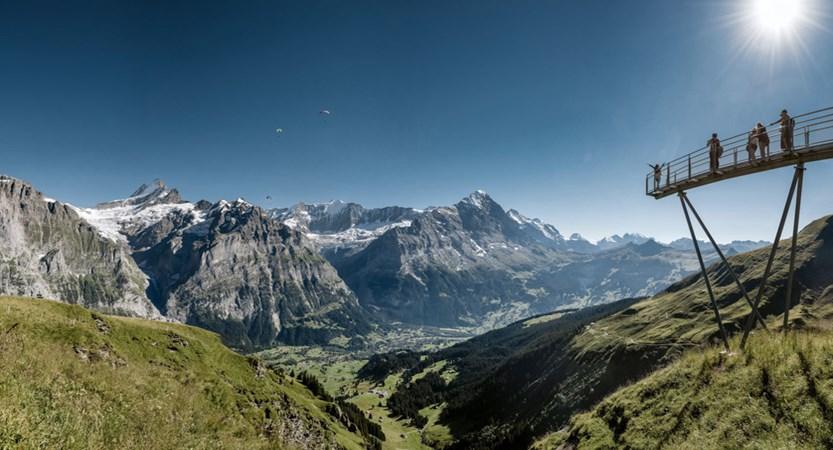 First Mountain Cliff Walk Grindelwald Bernese Oberland Switzerland