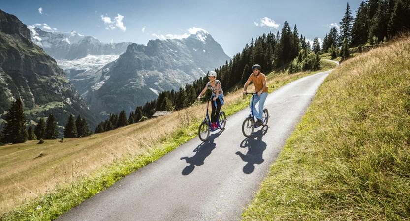 Cycling Grindelwald Bernese Oberland Switzerland
