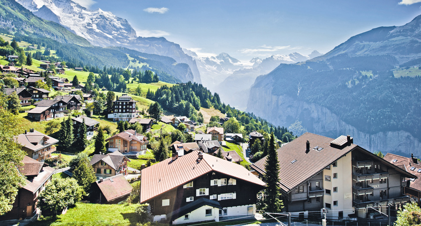 Wengen village and valley
