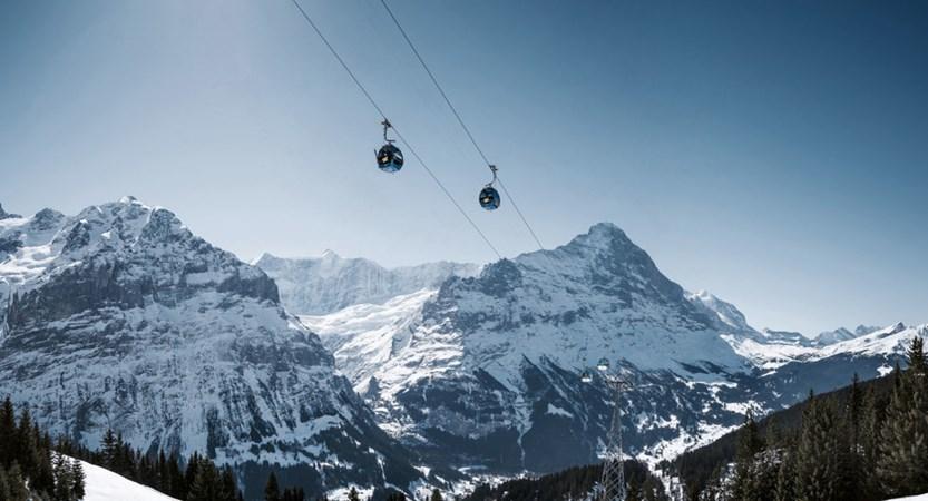 Grindelwald Cable Car Bernese Oberland Switzerland