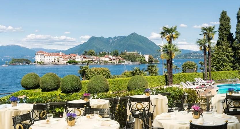 Villa e Palazzo Aminta, Le Isole Restaurant view