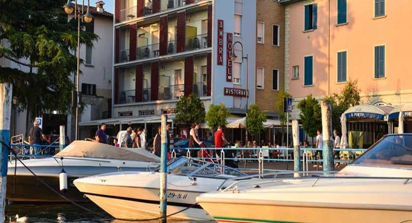 Hotel Ambra, Lake Iseo, Italy - Harbour view of Hotel Ambra.jpg