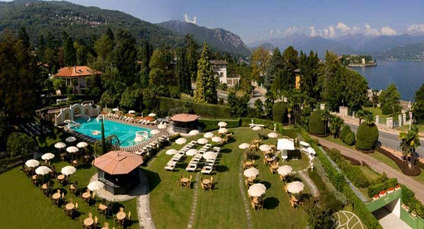 Bristol Grand Hotel, Stresa, Lake Maggiore, Italy - aerial view of swimming pool and gardens.jpg