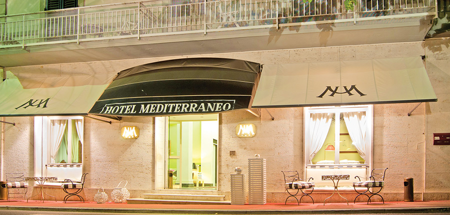Hotel Mediterraneo, Montecatini, Italy - exterior in the evening.jpg