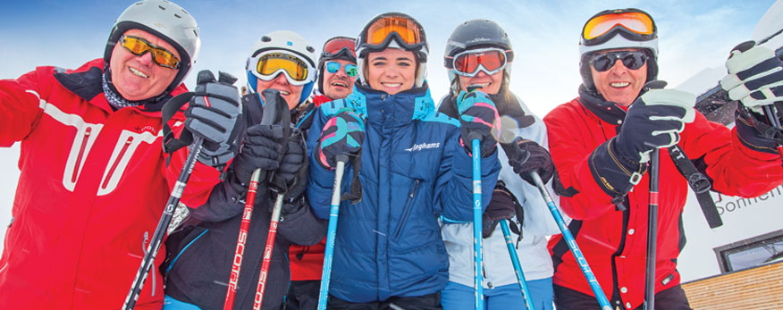 Group skiing Winter 2018 2019