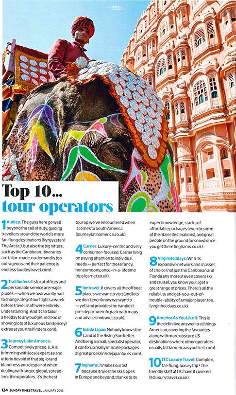 Top 10 Tour Operator