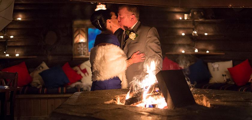 An intimate fireside affair