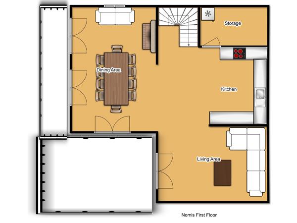 Chalet Nomis First Floor Floorplan