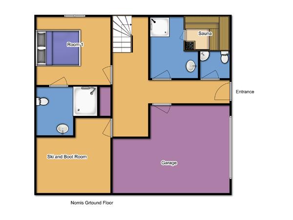 Chalet Nomis Ground Floor Floorplan