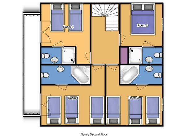 Chalet Nomis Second Floor Floorplan