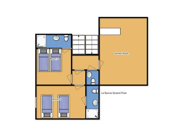 Chalet La Source Second Floor Floorplan