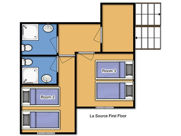 Chalet La Source First Floor Floorplan