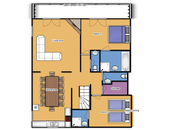 Chalet Jean France First Floor Floorplan