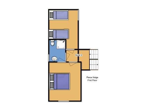 Chalet Perce Neige First Floor Floorplan