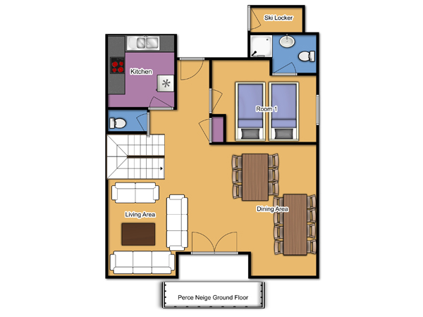 Chalet Perce Neige Ground Floor Floorplan