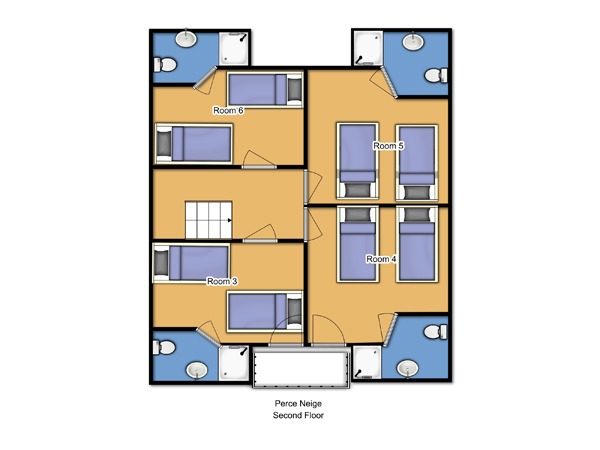 Chalet Perce Neige Second Floor Floorplan
