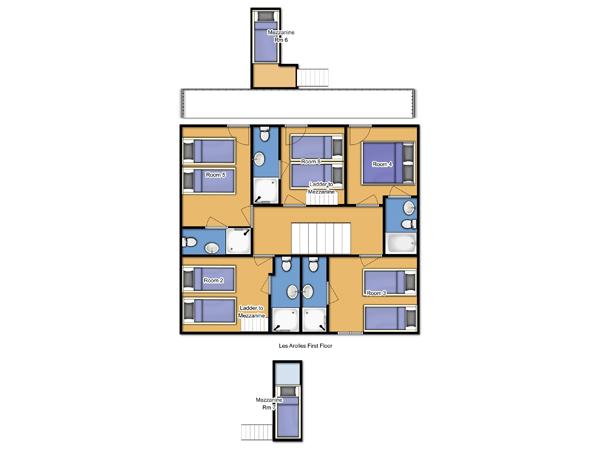 Chalet Les Arolles First Floor Floorplan
