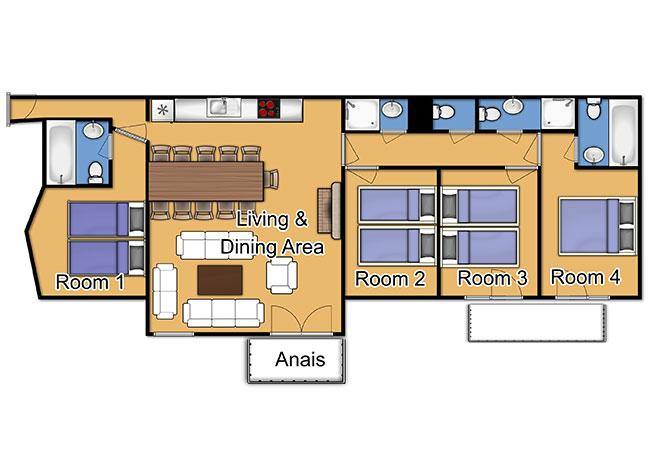 Chalet Anais Floorplan