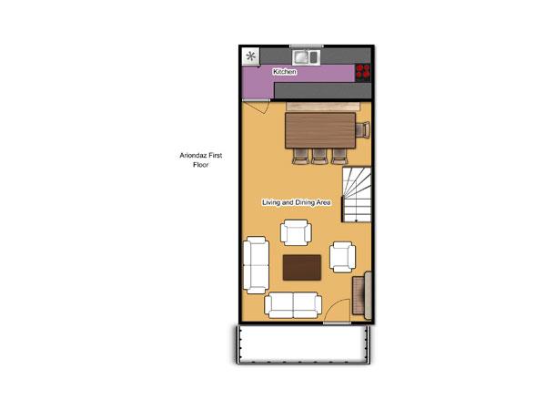 Chalet Ariondaz First Floor Floorplan