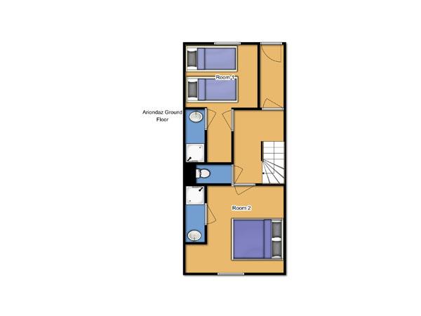 Chalet Ariondaz Ground Floor Floorplan