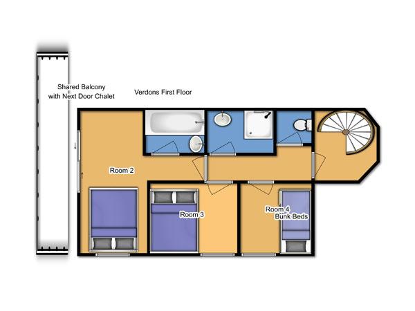 Chalet Verdons First Floor Floorplan